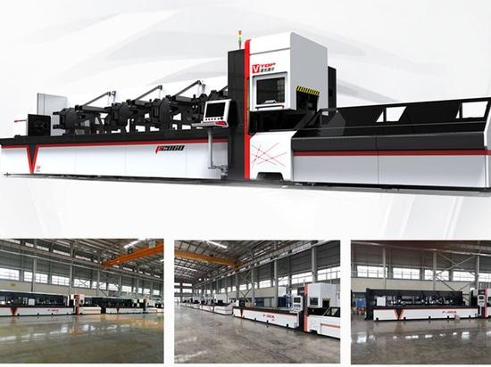 700w 1000w 2000w 3000w Cnc Faser Laser Pipe Schneidemaschine für runde Tube / quadratische Tube / rechteckige Tube