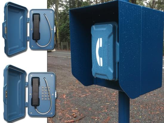 Notstraßenrand-Telefone installiert in Oxley-Landstraße in Australien