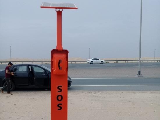 Das neue Entwurfs-Notstraßenrand-Telefon für Dubai-Landstraßen-Projekt