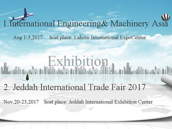 Wir organisieren Ausstellungen in Brasilien, Pakistan, Saudi-Arabien