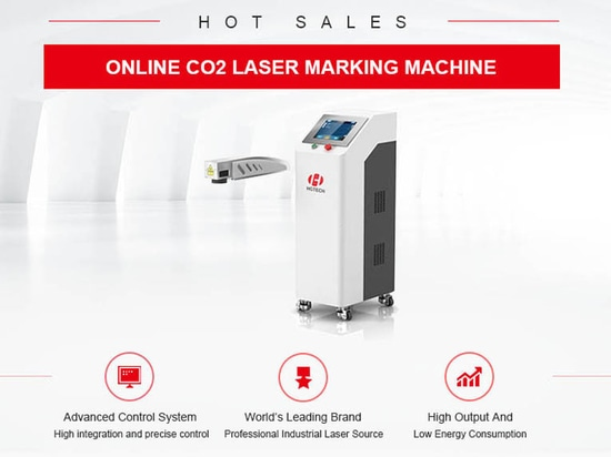 On-line-CO2 Laser-Markierungs-Maschine