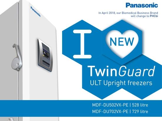 Steigern Sie Beispielsicherheit mit den neuen niedrige Temperatur-aufrechten Gefrierschränken TwinGuard ultra von Panasonic