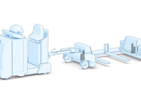 Materialtransportanwendungen wie AGVs-Nutzen von den intelligenten Linear-Verstellgeräten