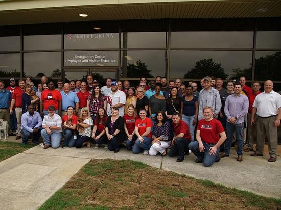 Nahrung- für Haustiereherstellung Nestles Purina und Vertriebsanlage, Hartwell, Georgia, US