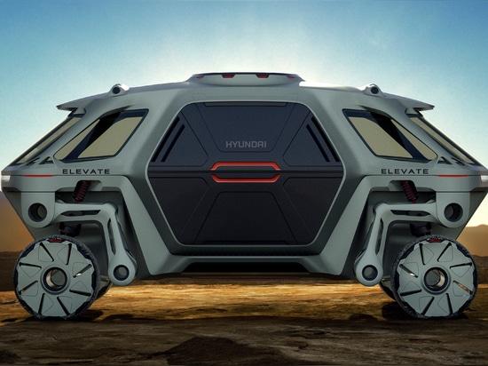 Ist gehendes Auto-Konzept Hyundais die Zukunft der Erstversorger-Industrie