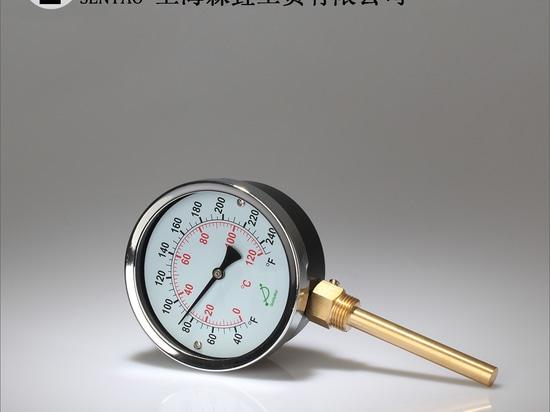 Installation von Bimetallthermometern mit Boden- und Bodenanschluss