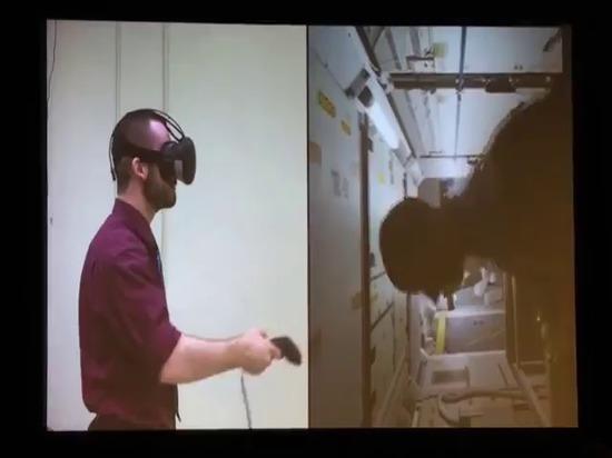 Die NASA auf VR-Training für die internationale Weltraumstation und die Hyrbid-Wirklichkeit