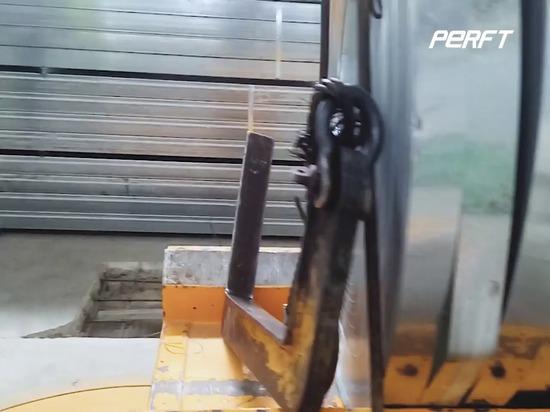 Vorteil des Schwerlast-Industrie-Drehkranzschienen-Transportwagens für die werkseigene Materialüberquerung Transport im Lagerhaus