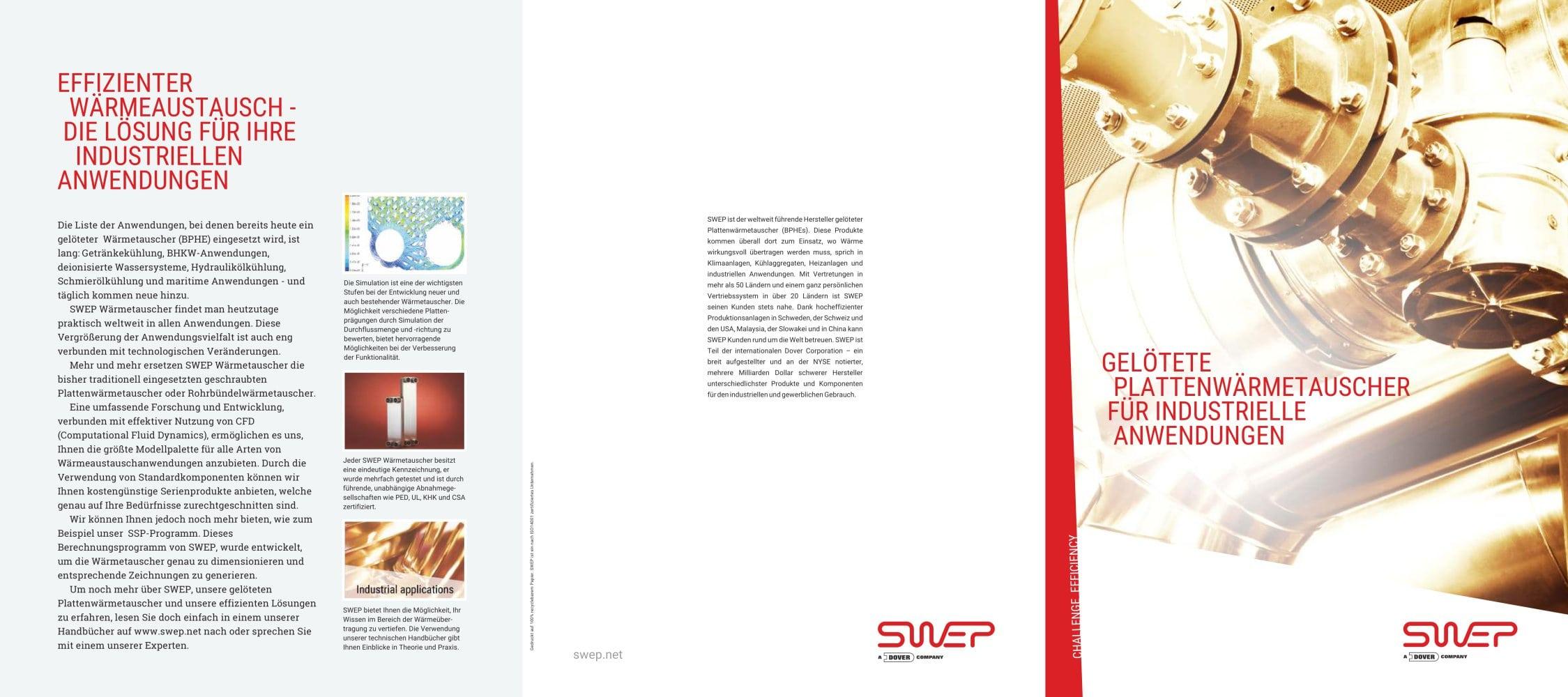 Gelötete plattenwärmetauscher für industrielle anwendungen - SWEP ...