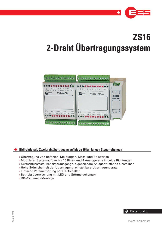 2-Draht Übertragungssystem - Elektra Elektronik GmbH & Co ...