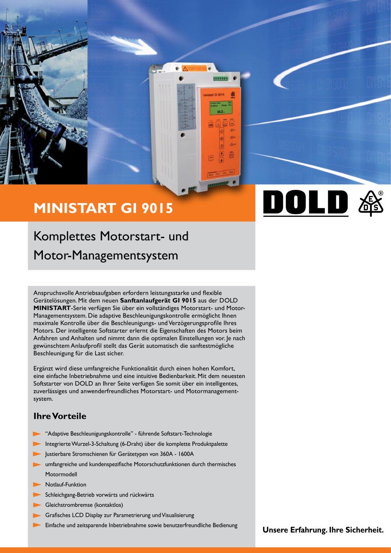 Flyer MINISTART Sanftanlaufgerät GI 9015 - DOLD - PDF Katalog ...