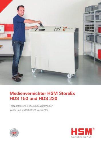 Medienvernichter HSM StoreEx HDS 150 und HDS 230
