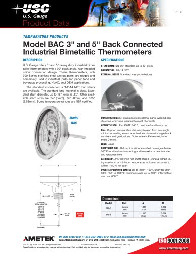 Model-BAC-3-inch-and-5-inch-Back-Connected-Industrial-Bimetallic-Thermometers