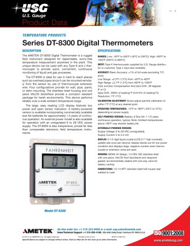 Series-DT-8300-Digital-Thermometers