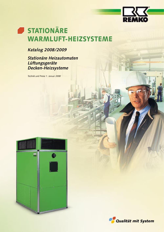 Stationäre Warmluft-Heizsysteme - REMKO - PDF Katalog   technische ...