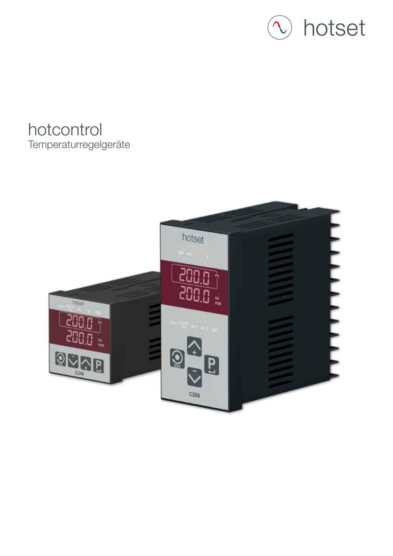 hotcontrol Temperaturregler - Hotset GmbH - PDF Katalog   technische ...