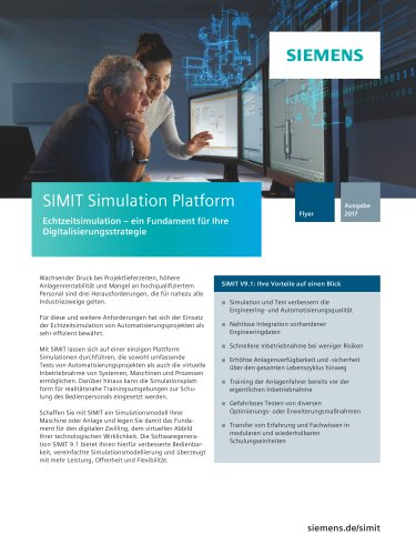 Simulationssoftware SIMIT