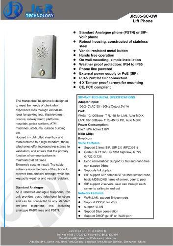Aufzugstelefon JR505-SC