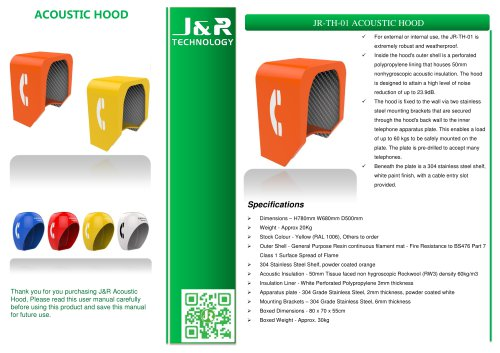 Sound proof Telephone booth JR-TH-01