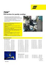 TXH� TIG torches for quality welding