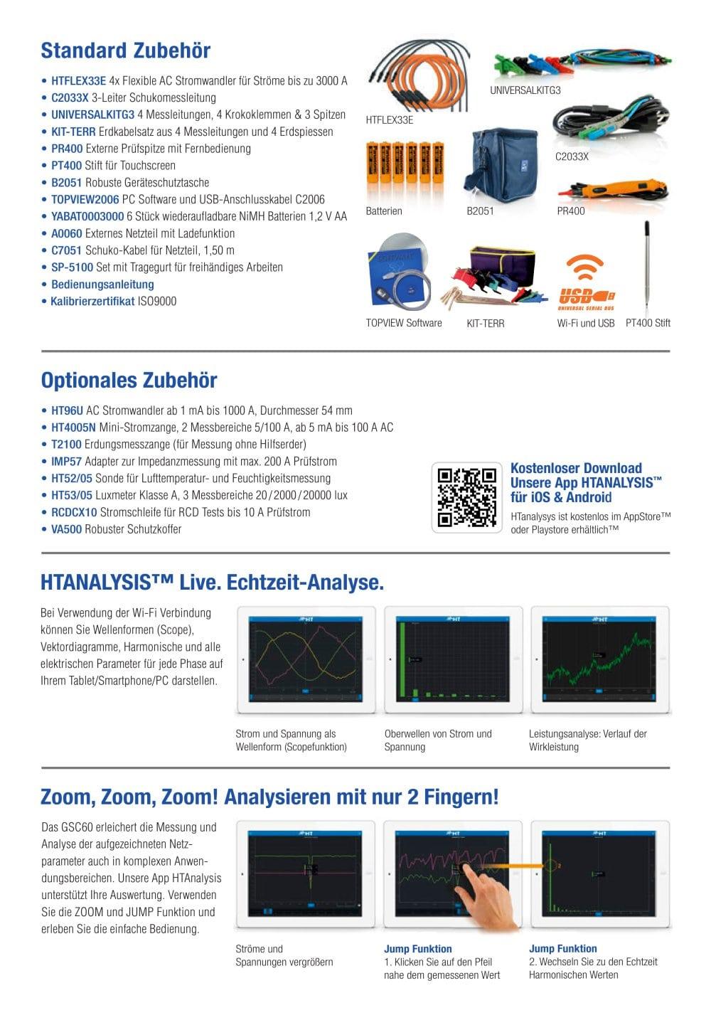 GSC60 Elektrische Sicherheit + Netzqualität und Energieverbrauch ...