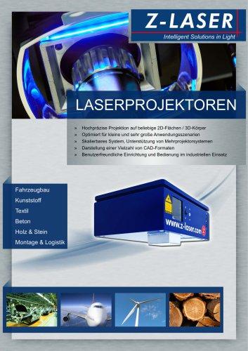 Laserprojektoren als Positionierhilfe