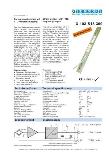 Joch-Dehnungssensor X-103-S13-300