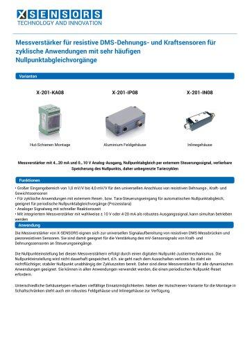 Messverstärker für resistive DMS-Dehnungs- und Kraftsensoren für zyklische Anwendungen mit sehr häufigen Nullpunktabgleichvorgänge
