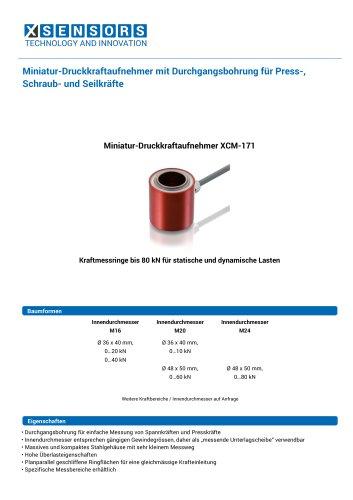 Miniatur-Druckkraftaufnehmer mit Durchgangsbohrung für Press-, Schraub- und Seilkräfte