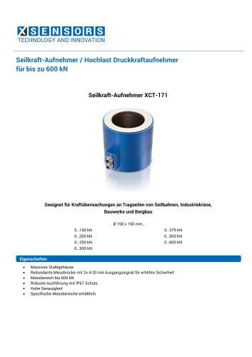 Seilkraft-Aufnehmer / Hochlast Druckkraftaufnehmer für bis zu 600 kN