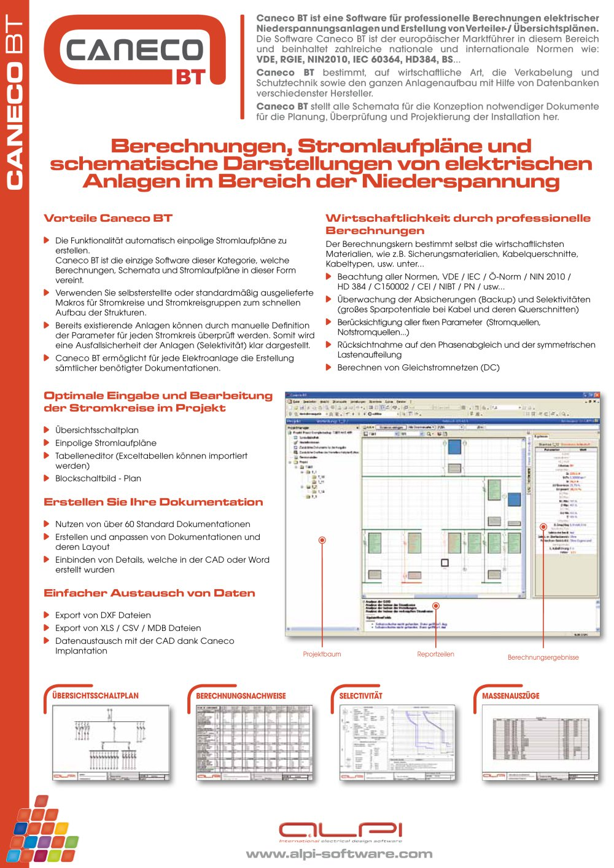 Caneco BT - Berechnungen, Stromlaufpläne und schematische ...