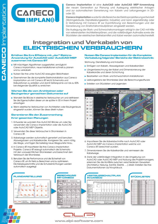 Caneco Implantation - Integration und Verkabeln von elektrischen ...