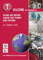 GLOBE AIR DRIVEN  LIQUID TEST PUMPS  AND SYSTEMS