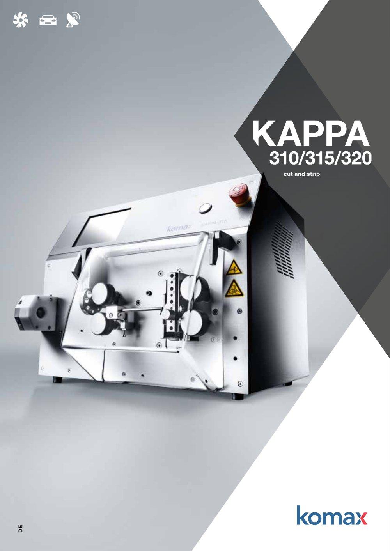 Kappa 310/315/320 Abisoliermaschine - Komax - PDF Katalog ...