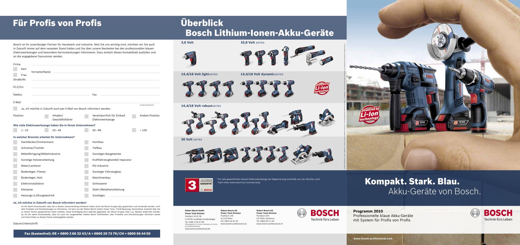 Neu Alle Kataloge und technischen Broschüren von Robert Bosch  QH24