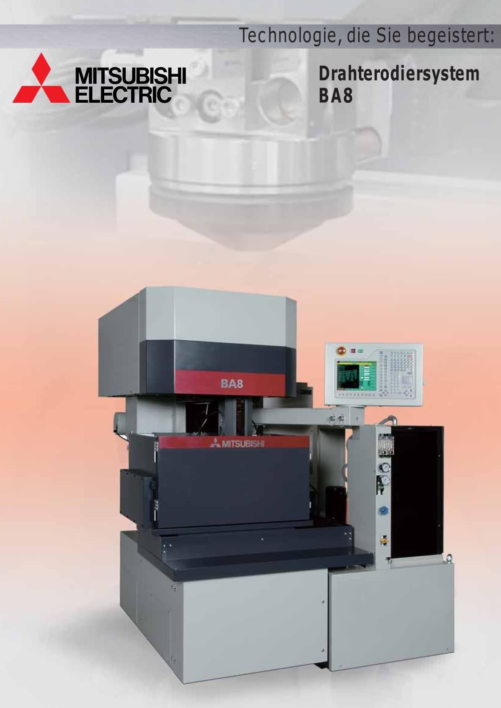 BA8 - Mitsubishi EDM - PDF Katalog   technische Unterlagen   Prospekt
