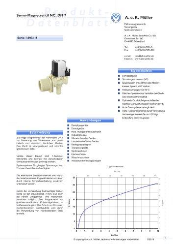 01.007.115 Servo-Magnetventil NC, DN 7