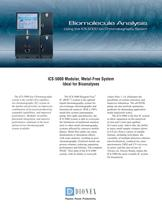 Biomolecule Analysis Using the ICS-5000 Ion Chromatography System