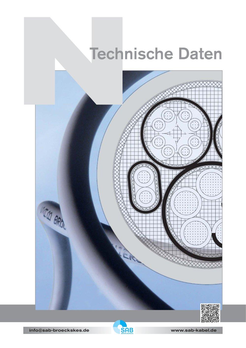 Elektrische Kabel - Technische Daten - SAB BROECKSKES GMBH & Co ...