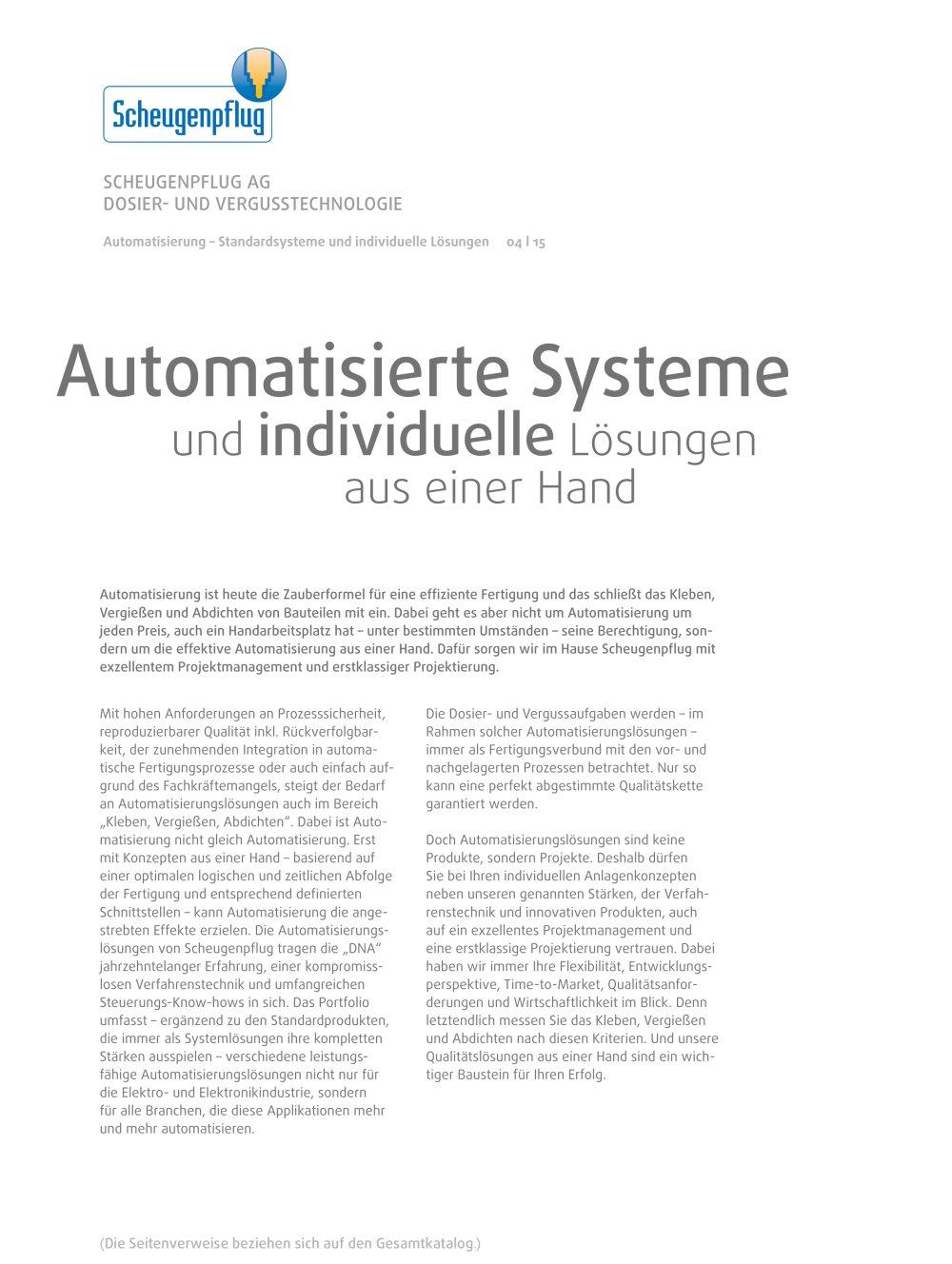 Automatisierung - Standardsysteme und individuelle Lösungen ...