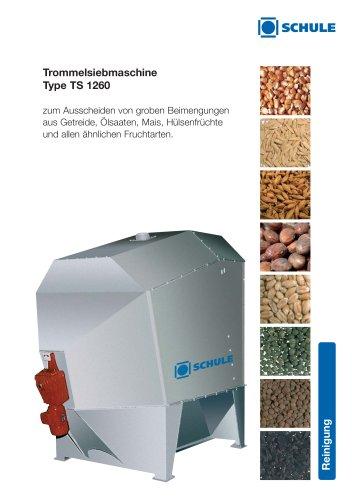 Reinigungsmaschinen - Trommelsiebmaschine Type TS 1260