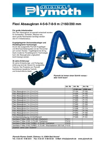 Flexi Absaugkran 4?5?6?7?8?9 m D160/200 mm