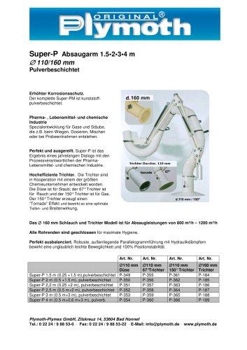 Super-P Absaugarm 1.5 - 4 m D 110/160 mm