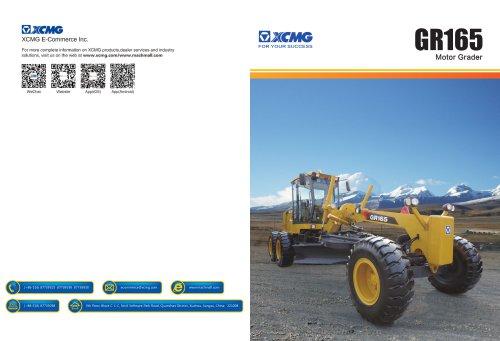 XCMG 165-180HP Motor Grader GR165