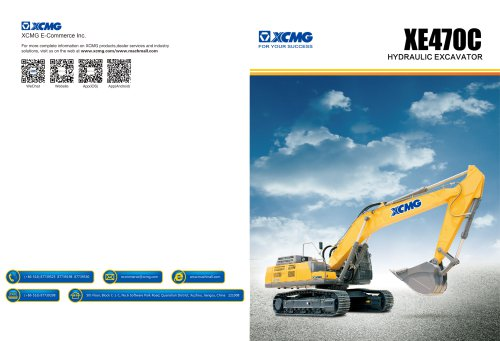 XCMG 46.1Ton Hydraulic Excavator XE470C