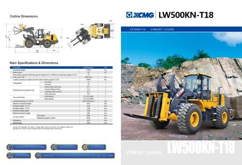 XCMG Forklift Loader LW500KN-T18