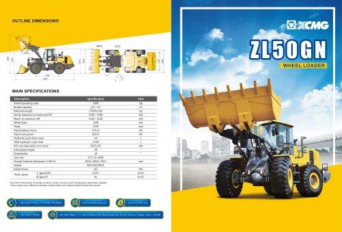 XCMG  Wheel loader ZL50GN construction