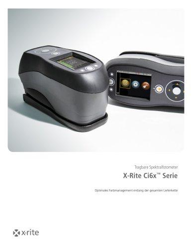 Tragbare Spektralfotometer X-Rite Ci6x™ Serie