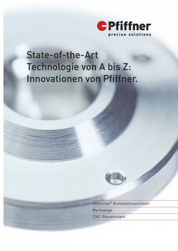 Hydromat - State-of-the-Art Technologie von A bis Z: Innovationen von Pfiffner