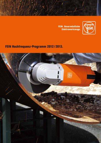 FEIN Hochfrequenz-Programm 2012 / 2013.